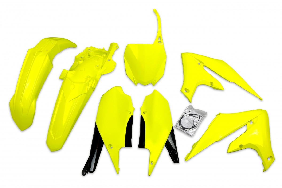 Complete body kit - neon yellow - Yamaha - REPLICA PLASTICS - YAKIT321-DFLU - UFO Plast