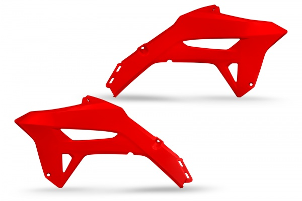 Radiator covers - red 070 - Honda - REPLICA PLASTICS - HO05605-070 - UFO Plast
